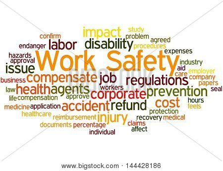 Work Safety, Word Cloud Concept 8