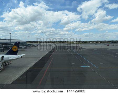 Airport Runway Perspective In Prague