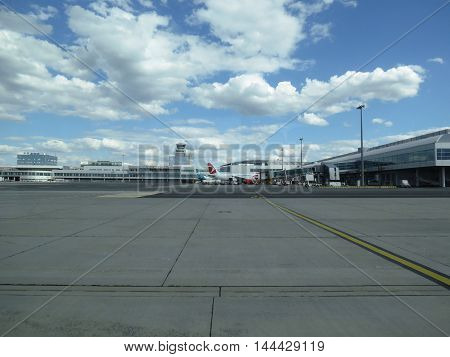 Vaclav Havel Airport In Prague