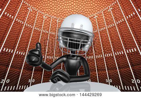 Football Character 3D Illustration