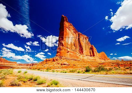 The Organ Sandstone, Arches National Park, Utah, Usa.