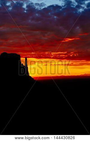Sunrise Over Monument Valley, Arizona, Usa