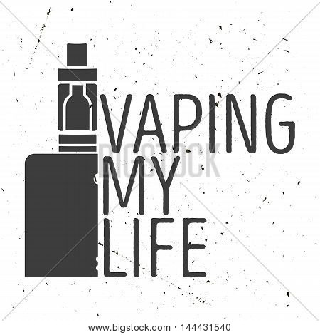 Emblem Or Poster Of An Electronic Cigarette