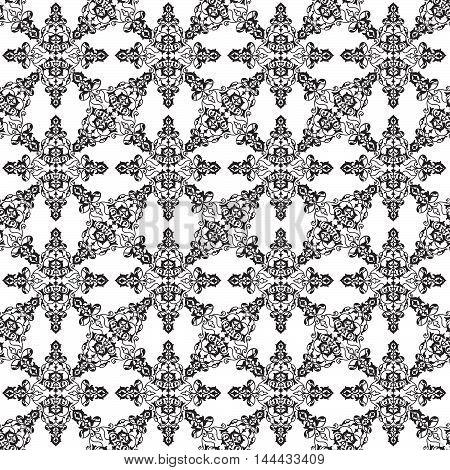 Abstract Seamless Pattern Floral Arabic Geometric Flower Shape L