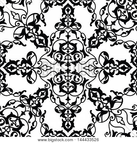 Abstract Seamless Pattern Floral Arabic Geometric Flower Shape L