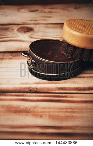 Wax And Brush.vintage.pastel Brown.accesories For Shoe Care
