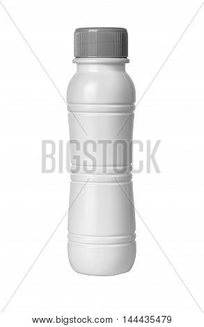 a white bottle on a white background with clipping path