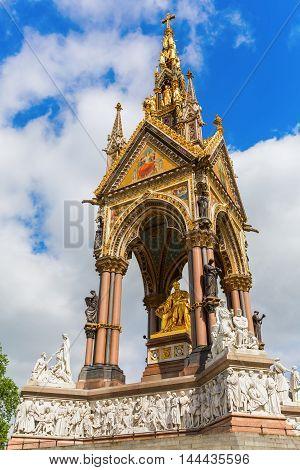 Albert Memorial In London, Uk