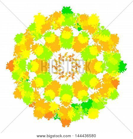 Vector illustration of abstract creative colorful circle