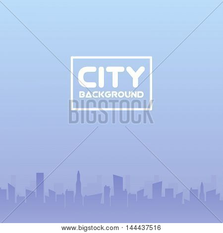 City of skyscrapers horizontal seamless pattern. Architecture urban building, structure house cityscape, vector illustration