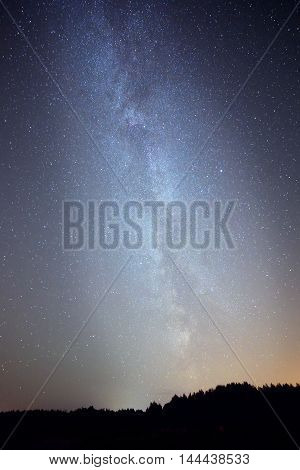 milky way on night sky, abstract natural background.