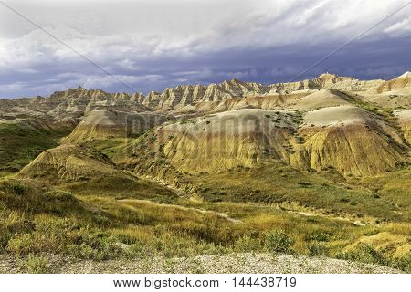 Painted Hills in Badlands National Park South Dakota