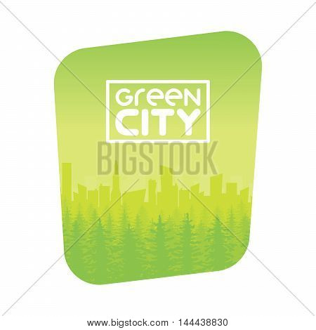 Green Eco City Background Design Vector Illustration