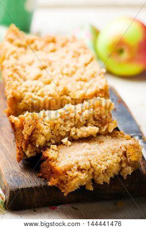 Oatmeal Apple Coffee Cake .s elective focus