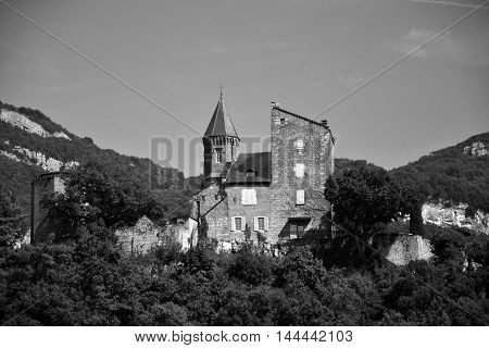 A little castle in the Alps, around Aix-les-Bains
