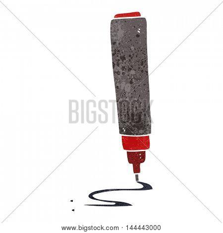 freehand drawn retro cartoon pen