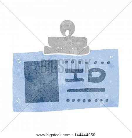 freehand retro cartoon ID badge
