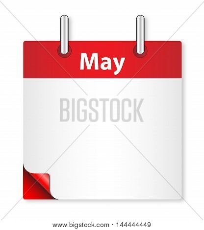 A calender date offering a blank May page over white