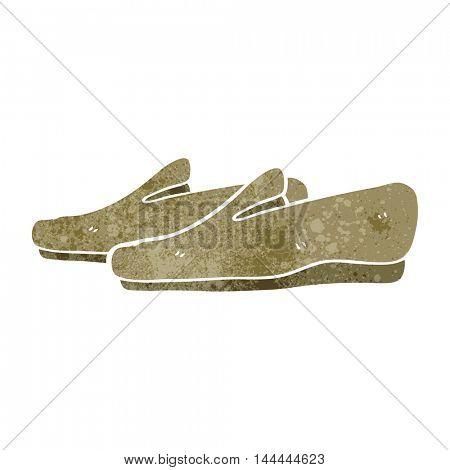 freehand retro cartoon slippers