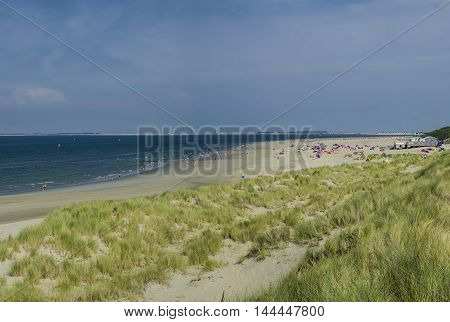 The beach on the North Sea in the Netherlands