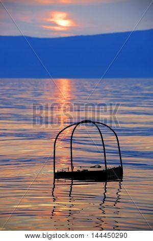 Baikal Lake in sunset light, Russian Federation