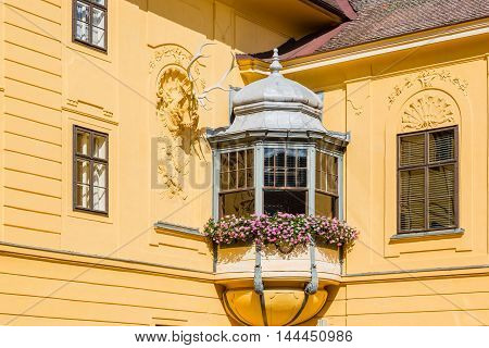 Architecture Detail Of Castle Eckartsau (schloss Eckartsau), Austria