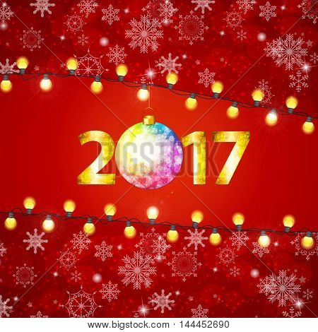 Abstract Beauty Merry Christmas and New Year Background. Vector illustration EPS10