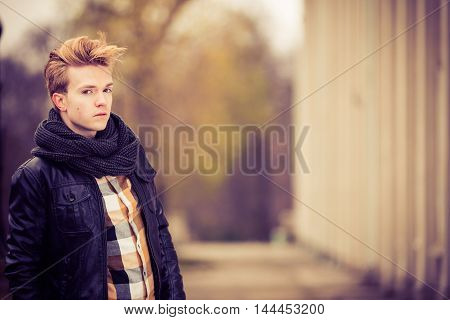 Handsome Fashionable Man Outdoor