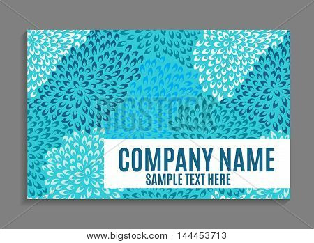 Beautiful Company Business Card Template. Vector Illustration EPS10