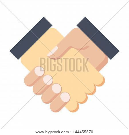 Partnership concept or handshake after good deal.