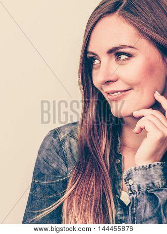 Beautiful Model Posing In The Studio.