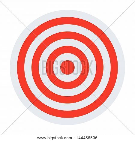 Target with red bands in flat style.