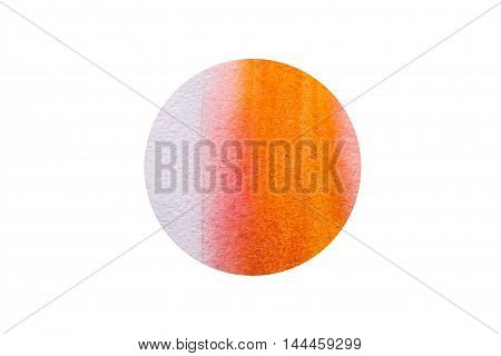 Watercolor hand drawn dot abstract background. Banner for text grunge element for decoration. Watercolor circle isolated on white. Element symbol of feng shui in flat design: fire.
