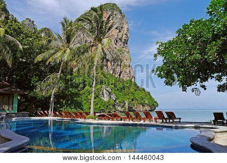 Beautiful view in Railay Beach, Railay. THAILAND.