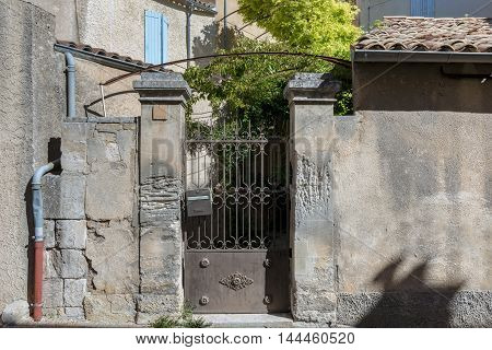 Gateway in mediaeval small village Provence Sout of France