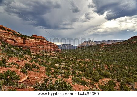 Scenic Landscape In Sedona Arizona