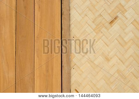 wood texture and weave pattern for background