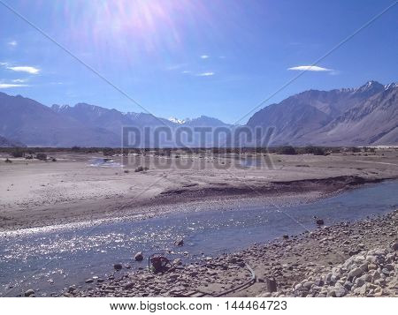 Nubra Valley, green desert in Leh Ladakh India