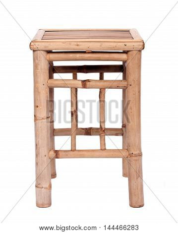 Fancy bamboo chair separated on white background