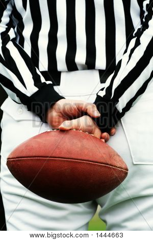 American Football Referee And Ball