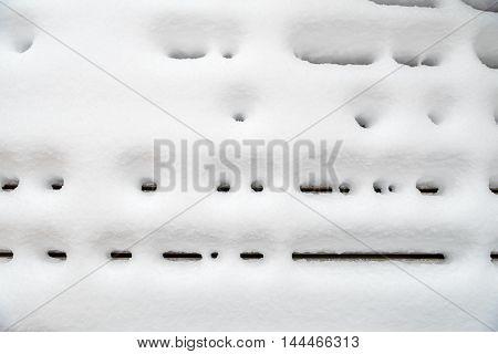 Deck Under Snow