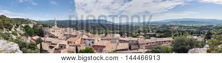Panoramic view of Saint Saturnin d Apt Provence France.