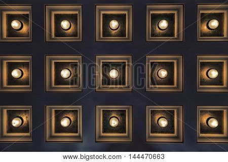 A panel of lights forming an abstract escene