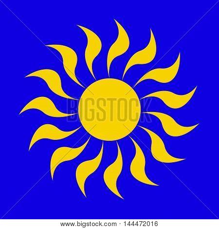Sun icon. Sun Vector isolated summer icon design