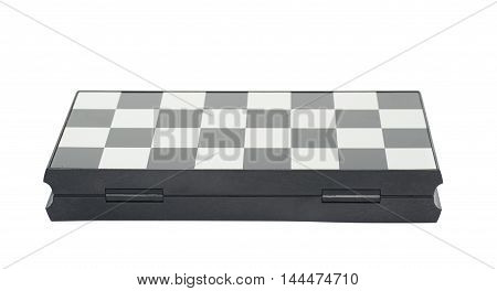 Folded chess board isolated over the white background