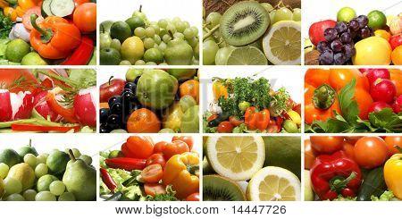 Big nutrition collage