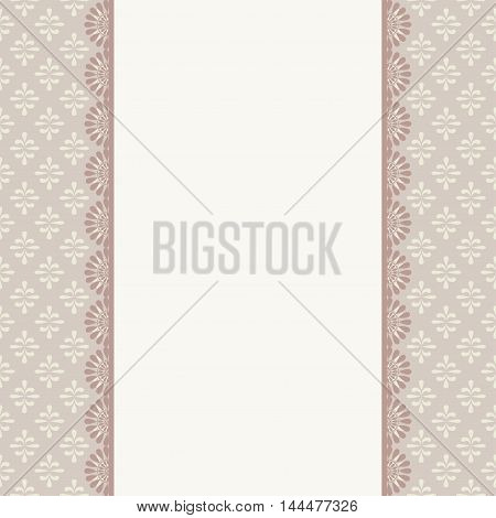 Vintage card design for greeting card invitation menu