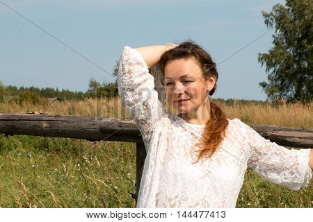 Nice Girl At A Countryside In A Nice Day