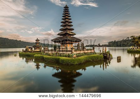 Beautiful Pura Ulun Danu Bratan temple , Bali, Indonesia