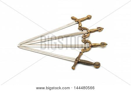 iron battle Swords on a white background